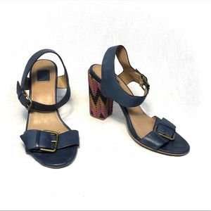 Ella Moss Blue Leather Heels